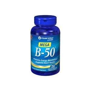 B 50 (Vitamin B Complex) 50 mg. range 250 Caplets Health