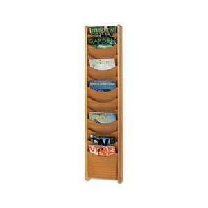 Safco® Solid Wood Wall Mount Literature Display Rack