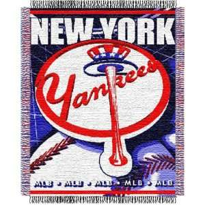 New York Yankees Major League Baseball Woven Jacquard Throw