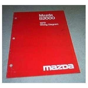 1979 Mazda B2000 Wiring Diagram Service Repair Manual