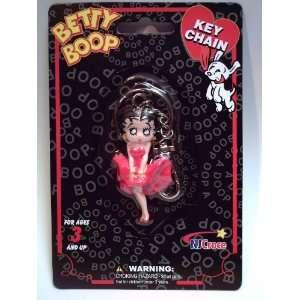 Betty Boop Figure Keychain  Red Dress