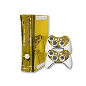 Xbox 360 Skin   NEW   GOLD CHROME MIRROR system skins faceplate decal