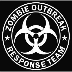Zombie Outbreak Response Team White Die cut Vinyl Decal