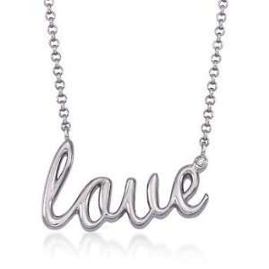Silver Love Necklace, Diamond Accent. 17.5 Jewelry