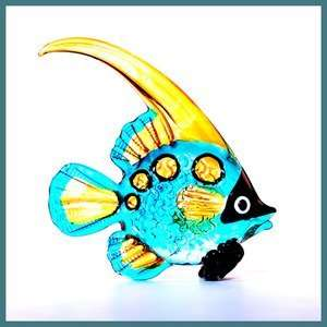 Hawaiian Glass Figurine Lola the Angel Fish