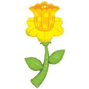 Pretty Yellow Daffodil Flower 60 Mylar Balloon Health