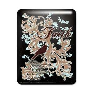 iPad Case Black Faith Dove   Christian Cross Dove
