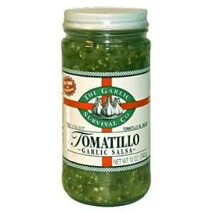 The Garlic Survival Company   Tomatillo Garlic Salsa