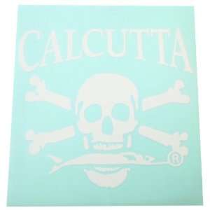 Calcutta Large Die Cut Decal, White, 9 1/2  Inch by 9 1/2  Inch, 6