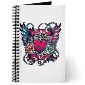 Journal (Diary) with Look After My Heart Roses Chains and Angel Wings