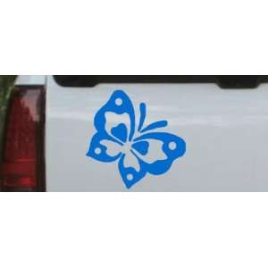 Butterfly Butterflies Car Window Wall Laptop Decal Sticker    Blue 6in