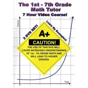 The 1st   7th Grade Math Tutor   7 Hour Course!   2 DVD Set!   Learn