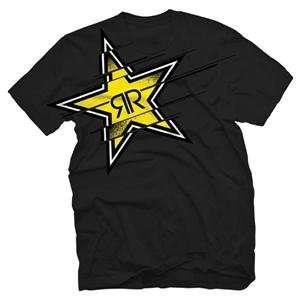 Answer Racing Rockstar Splice T Shirt   Large/Black Automotive