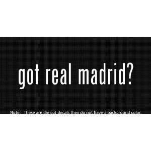 (2x) Got Real Madrid   Sticker   Decal   Die Cut   Vinyl