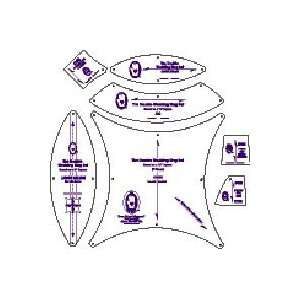RU335 Double Wedding Ring Template Set by Marti Michell