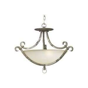 Santiago Antique Pewter Three Light Semi Flush Home