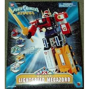 Deluxe Lightspeed Megazord Power Rangers Rescue Sabans Toys & Games