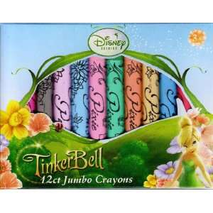 Fairies TinkerBell 12 Count Jumbo Crayons, Non Toxic Toys & Games