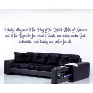 Pledge of Allegiance Patriotic Vinyl Wall Decal Sticker Mural Quotes