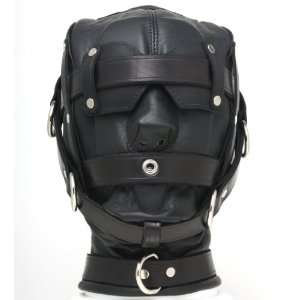 Mr S Leather Heavy Duty Leather Hood with 3 Straps   Mens
