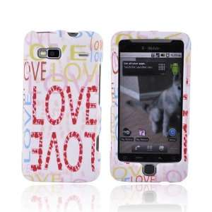 PINK LOVE WHITE Rubberized Hard Case for T Mobile G2