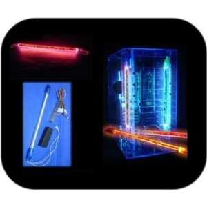 liquid neon red light. Electronics