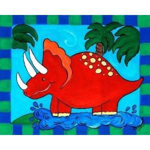 Ruby The Dinosaur Giclee Art Home & Kitchen