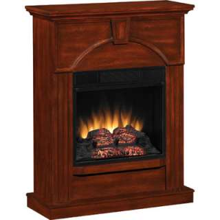 Twin Star NVC Wall Mantel Electric Fireplace (Vintage Cherry)   BJs