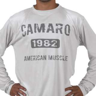1982 Camaro Apparel Tee Shirt by WideOpenRacewear
