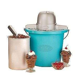 ICMP 400BLUE 4 Quart Electric Ice Cream Maker, Blue  Nostalgia