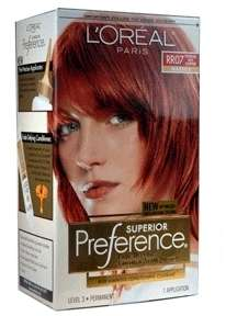Loreal Preference Hair Color,# RR 07 Intense Red Copper