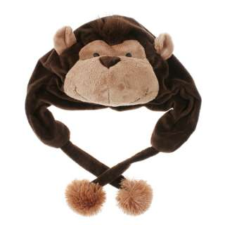 Fuzzy Soft Warm Cartoon Animal Monkey Hat Cap Earmuff H2778