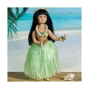 Beautiful 16 PORCELAIN Hawaiian HULA GIRL Doll/Collectible Doll/LUAU