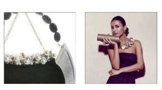 Amanda Pearl Brushed Brass Stack of Three Stretch Bracelets   designer