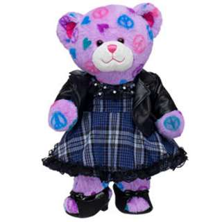 Fashion Rocks Peace & Hearts Bear   Build A Bear Workshop US