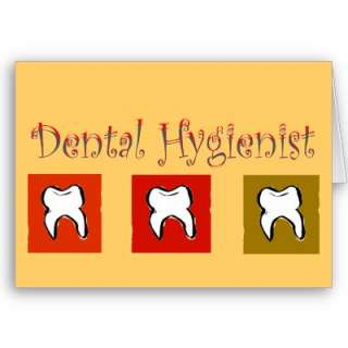 Dental Hygienist Gifts, 3 Teeth Design Greeting Card from Zazzle