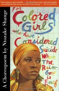 For Colored Girls Who Have Considered Suicide Book  Nt