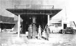 Old Photo McLoud Oklahoma Gas & Service Station