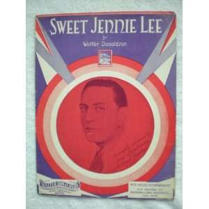 Sweet Jennie Lee   Vintage Sheet Music: Walter Donaldson