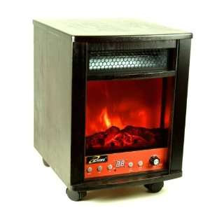iLIVING 1500 Watts Electric Infrared Portable Fireplace Space Heater