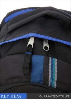 BN Jansport Trinity Laptop Backpack Black/Blue Plaid