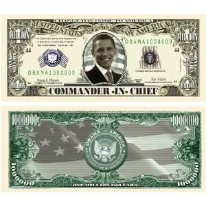 Million Dollar Bill Obama