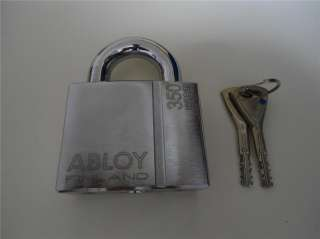 New ABLOY High Security Steel Padlock PL350/25N