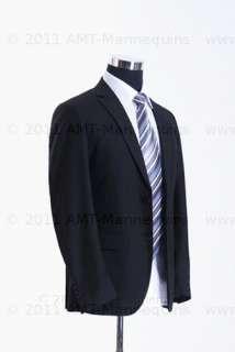 Male mannequin torso   pinnable fabric dress form   Black Fabric H 102
