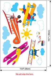Airplanes Wall Stickers Vinyl Decals Decor Kids Rooms