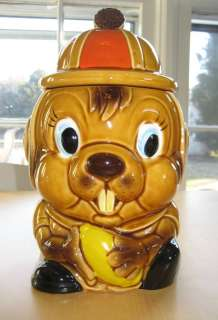 VINTAGE BEAVER COOKIE JAR   JAPAN MADE