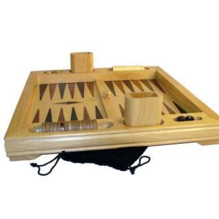 Wood Table Top Backgammon Set Games & Puzzles