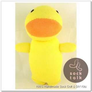Handmade Sock Monkey Yellow Duck Stuffed Animals Baby Toy