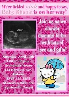 Hello Kitty Ultrasound Baby Shower Invitation