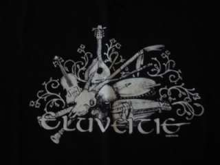 Eluveitie Unique Folk Metal Band Black Instrument T Shirt Size Large L